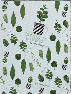 Plant it – Love it! Geschenkpapier-Heft Motiv Pflanzenkinder von Schöll,  Stephan
