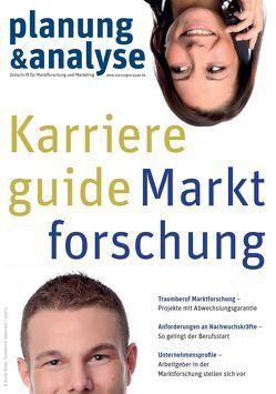 planung & analyse Karriereguide Marktforschung von planung & analyse