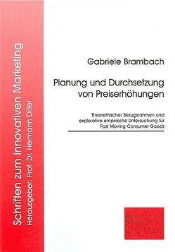 Planung und Durchsetzung von Preiserhöhungen von Brambach,  Gabriele
