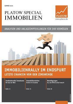 PLATOW Special Immobilien Sommer 2018 von Mahlmeister,  Frank, Schirmacher,  Albrecht F.