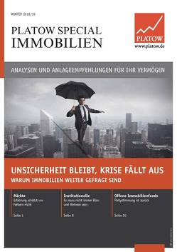 PLATOW Special Immobilien Winter 2018/19 von Mahlmeister,  Frank, Schirmacher,  Albrecht F.