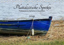 Plattdüütsche Sprökje 2019 (Tischkalender 2019 DIN A5 quer) von Hebgen,  Peter