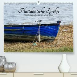 Plattdüütsche Sprökje 2020 (Premium, hochwertiger DIN A2 Wandkalender 2020, Kunstdruck in Hochglanz) von Hebgen,  Peter