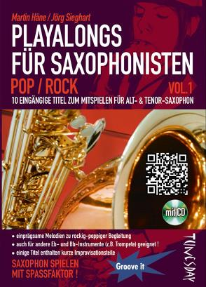 Playalongs für Saxophonisten Vol. 1 Pop/Rock (inkl. CD)