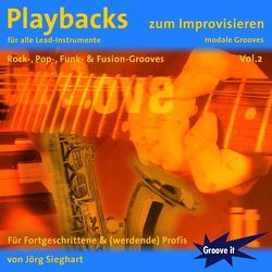 Playbacks zum Improvisieren Vol. 2 – Für Fortgeschrittene von Sieghart,  Jörg