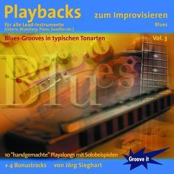 Playbacks zum Improvisieren Vol. 3 – Blues von Sieghart,  Jörg, Tunesday Records Musikverlag