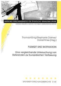 Plebiszit und Ratifikation von Daimer,  Stephanie, Finke,  Daniel, König,  Thomas