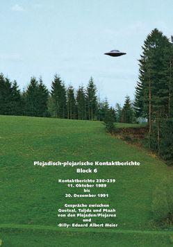 """Plejadisch-Plejarische Kontaktberichte – Block 6 von Meier,  """"Billy"""" Eduard Albert"""