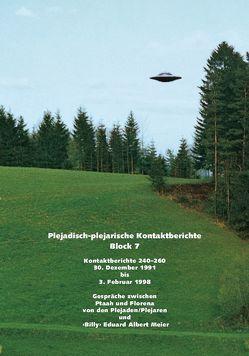 """Plejadisch-plejarische Kontaktberichte – Block 7 von Meier,  """"Billy"""" Eduard Albert"""