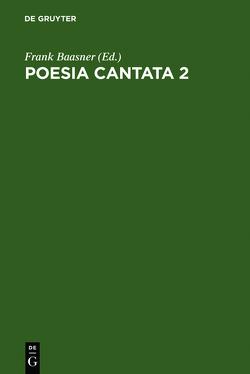 Poesia cantata 2 von Baasner,  Frank