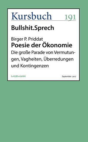 Poesie der Ökonomie von Priddat,  Birger P.
