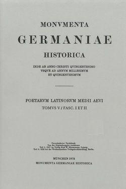 Poetae Latini medii aevi / Die Ottonenzeit von Fickermann,  Norbert, Strecker,  Karl