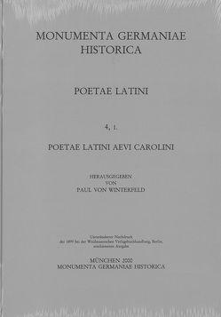 Poetae Latini medii aevi / Poetae Latini aevi Carolini (IV) von Strecker,  Karl, Winterfeld,  Paul von