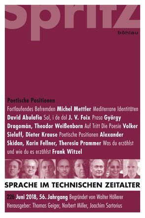 Poetische Positionen von Geiger,  Thomas, Miller,  Norbert, Sartorius,  Joachim