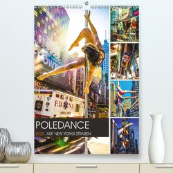 Poledance auf New Yorks Straßen (Premium, hochwertiger DIN A2 Wandkalender 2020, Kunstdruck in Hochglanz) von Meutzner,  Dirk