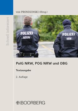 Polizeigesetz des Landes Nordrhein-Westfalen von Prondzinski,  Peter von