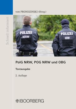 PolG NRW, POG NRW und OBG von Prondzinski,  Peter von