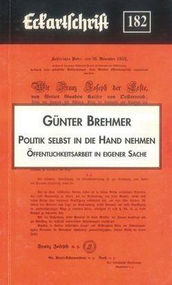 Politik selbst in die Hand nehmen von Bremer,  Günter