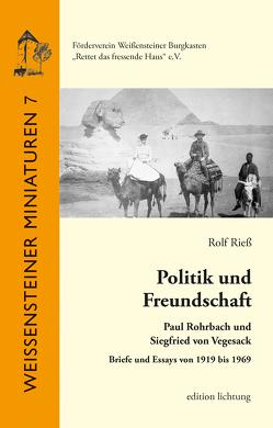 Politik und Freundschaft von Rieß,  Rolf