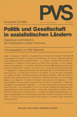 Politik und Gesellschaft in sozialistischen Ländern von Rytlewski,  Ralf