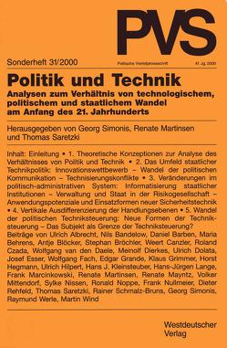 Politik und Technik von Martinsen,  Renate, Saretzki,  Thomas, Simonis,  Georg