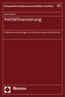 Politikfinanzierung von Köhler,  Uwe
