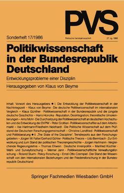 Politikwissenschaft in der Bundesrepublik Deutschland von Beyme,  Klaus von