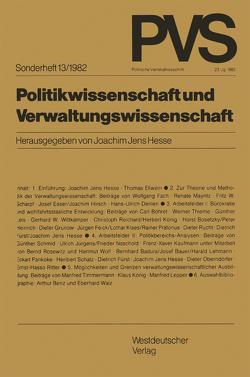 Politikwissenschaft und Verwaltungswissenschaft von Hesse,  Joachim Jens