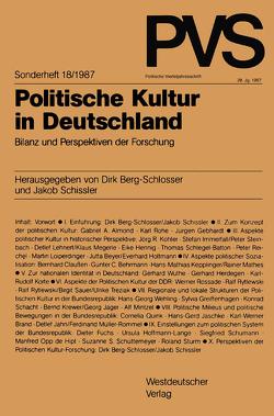 Politische Kultur in Deutschland von Berg-Schlosser,  Dirk, Schissler,  Jakob