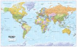 Politische Weltkarte 1:20Mio deutsch, beidseitig laminiert