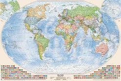 Politische Weltkarte 150 x 100 cm von Bauer,  Jörg