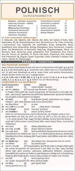 Polnisch – Kurzgrammatik. Die komplette Grammatik anschaulich und verständlich dargestellt von Holman,  Autorenkollektiv