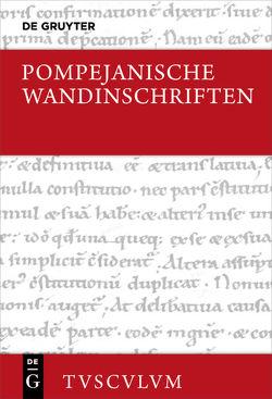 Pompejanische Wandinschriften von Wachter,  Rudolf