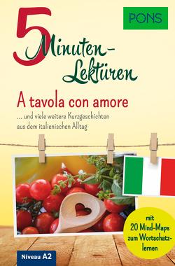 PONS 5-Minuten-Lektüre Italienisch A2 – A tavola con amore