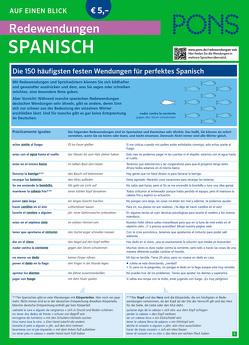 PONS Redewendungen Spanisch auf einen Blick