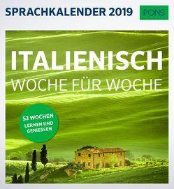 PONS Sprachkalender 2019 Italienisch Woche für Woche