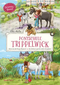 Ponyschule Trippelwick Doppelband (Enthält die Bände 1: Hörst du die Ponys flüstern? / 2: Ein Einhorn spricht nicht mit jedem) von Lauber,  Larisa, Mattes,  Ellie