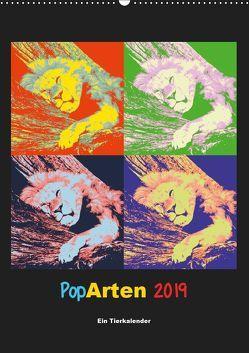 PopArten 2019 – Ein Tierkalender (Wandkalender 2019 DIN A2 hoch) von Weigt,  Mirko