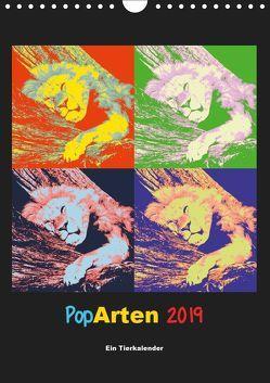 PopArten 2019 – Ein Tierkalender (Wandkalender 2019 DIN A4 hoch) von Weigt,  Mirko