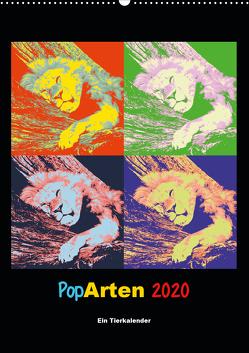 PopArten 2020 – Ein Tierkalender (Wandkalender 2020 DIN A2 hoch) von Weigt,  Mirko