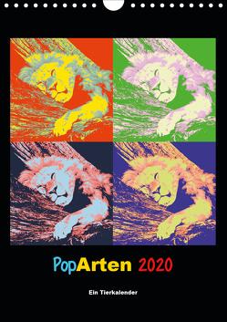 PopArten 2020 – Ein Tierkalender (Wandkalender 2020 DIN A4 hoch) von Weigt,  Mirko