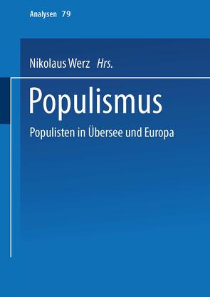 Populismus von Werz,  Nikolaus