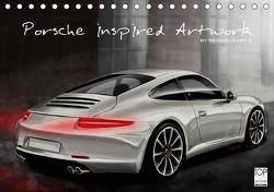 Porsche inspired Artwork by Reinhold Art´s (Tischkalender 2021 DIN A5 quer) von Autodisegno,  Reinhold
