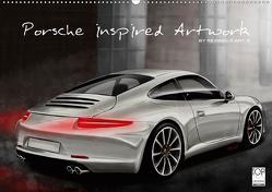 Porsche inspired Artwork by Reinhold Art´s (Wandkalender 2021 DIN A2 quer) von Autodisegno,  Reinhold