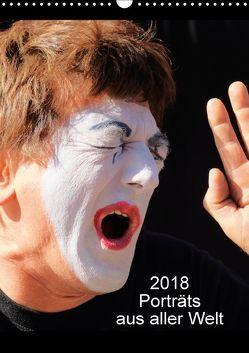 Porträts aus aller Welt (Wandkalender 2018 DIN A3 hoch) von Schrotthofer-fotomuerz,  Hans