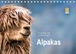 Portraits der kuscheligen Alpakas (Tischkalender 2021 DIN A5 quer) von Mentil,  Bianca