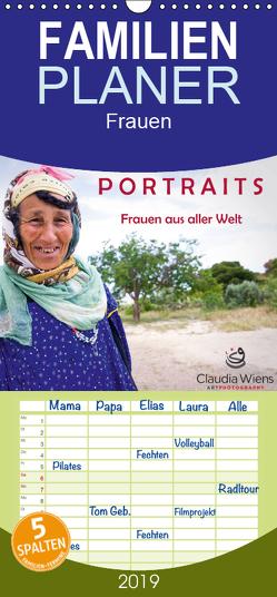 PORTRAITS – Frauen aus aller Welt – Familienplaner hoch (Wandkalender 2019 , 21 cm x 45 cm, hoch) von Wiens,  Claudia