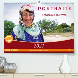 PORTRAITS – Frauen aus aller Welt (Premium, hochwertiger DIN A2 Wandkalender 2021, Kunstdruck in Hochglanz) von Wiens,  Claudia