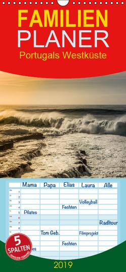 Portugals Westküste – Familienplaner hoch (Wandkalender 2019 , 21 cm x 45 cm, hoch) von Deter,  Thomas