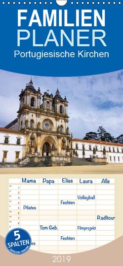Portugiesische Kirchen – Familienplaner hoch (Wandkalender 2019 , 21 cm x 45 cm, hoch) von LianeM